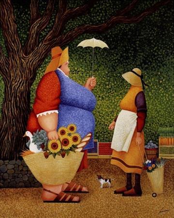 Market Day by Lowell Herrero