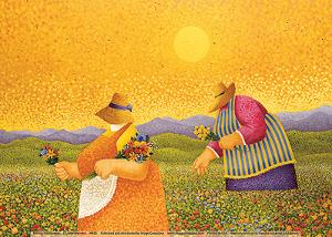 Picking Wildflowers by Lowell Herrero