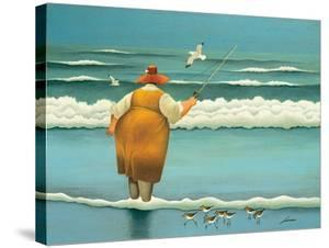 Surfside Fishing by Lowell Herrero