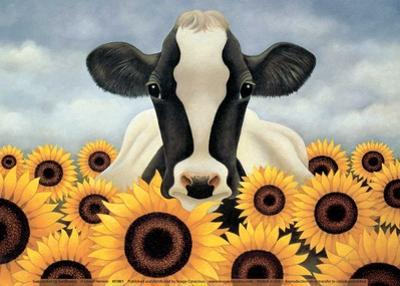 Surrounded by Sunflowers by Lowell Herrero