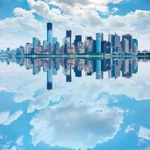 Lower Manhattan Skyline with Reflections