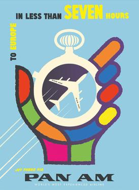 To Europe - In Less than 7 Hours - Pan American World Airways by Loweree