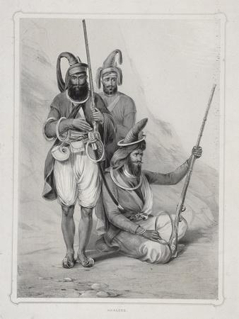 Akalees, (Indian Warrior), 1844