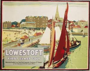 Lowestoft First Class Golf Poster