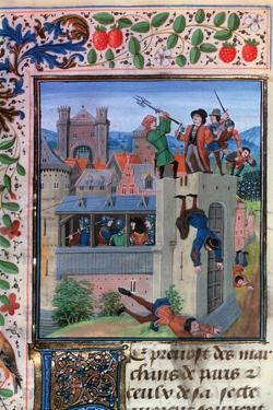 The Murder of Etienne Marcel, 1358, (Mid-15th Centur) by Loyset Liedet