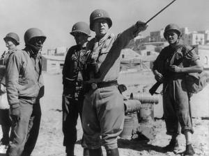 Lt. General George Patton Leading Invasion Troops in Sicily. July 11, 1943 During World War 2
