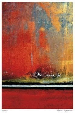 Crimson Evening Surf by Luann Ostergaard