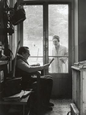 Arletty with Louis-Ferdinand Céline, April 14, 1958 by Luc Fournol