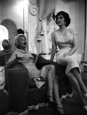 Gina Lollobrigida and Martine Carol by Luc Fournol
