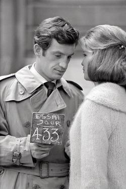 Jean-Paul Belmondo and Alexandra Stewart by Luc Fournol