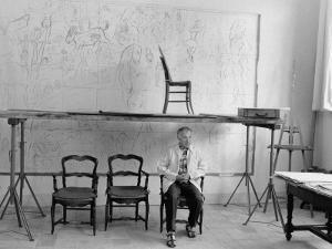 Marc Chagall in his Studio by Luc Fournol