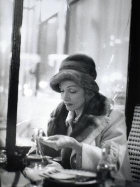 Marlène Dietrich (1901-1992) in a Café by Luc Fournol