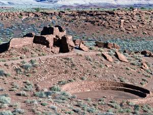 Native American Ruins at Wupatki National Monument, Arizona, USA by Luc Novovitch