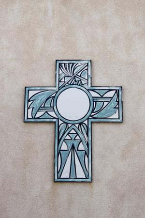 New Mexico, Laguna Mission. Cross in Mission San Jose De La Laguna