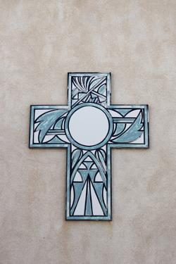 New Mexico, Laguna Mission. Cross in Mission San Jose De La Laguna by Luc Novovitch