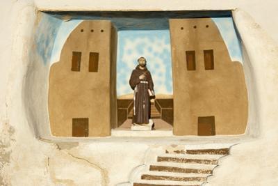 New Mexico. Painting in the Mission San Jose De La Laguna