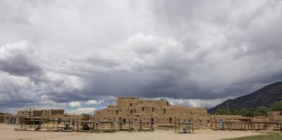 New Mexico. Taos Pueblo, Architecture Style from Pre Hispanic Americas