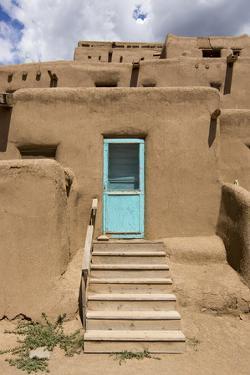 New Mexico, Taos. Taos Pueblo, Pre Hispanic Architecture by Luc Novovitch
