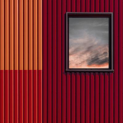 Red with a touch of sky by Luc Vangindertael (laGrange)