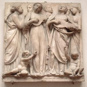 Singing Angels, Relief from the Cantoria, C.1432-38 by Luca Della Robbia