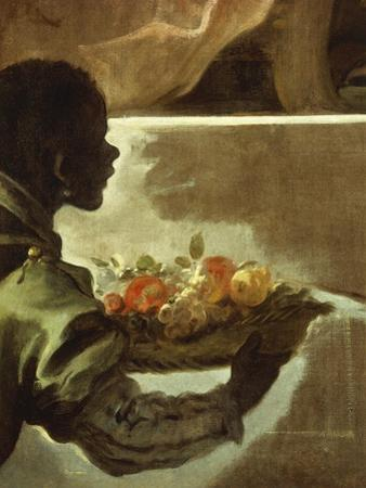 Servant Presenting a Basket of Fruit, Detail from Homage to Velazquez for the Count of Santiesteban