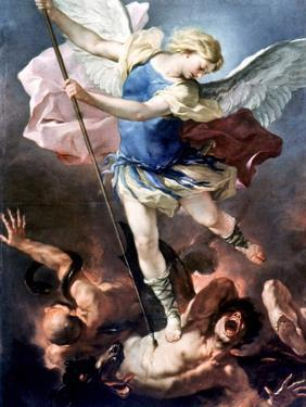 The Archangel Michael by Luca Giordano