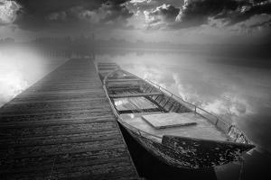 Boats in Harbor by Luca Rebustini