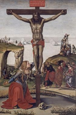 Crucified Christ with Mary Magdalene, 1490 by Luca Signorelli