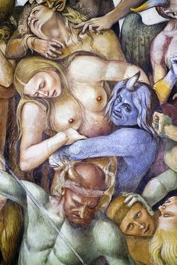 Damned in Hell, Detail with Self-Portrait of Luca Signorelli in Guise of a Blue Demon by Luca Signorelli