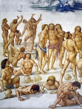 Resurrection of Flesh, from Last Judgment Fresco Cycle, 1499-1504 by Luca Signorelli