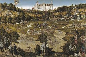 Hunt in Honour of Emperor Charles V at Torgau Castle by Lucas Cranach the Elder
