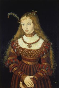 Sibylle Von Cleve as the Bride of Prince Johann Friedrich Von Sachsen-Weimar by Lucas Cranach the Elder