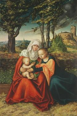 The Virgin Mary with Saint Anne Holding the Infant Jesus by Lucas Cranach the Elder