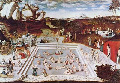 Lucas Cranach (The fountain of youth) Art Poster Print