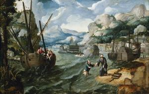 Christ with Saint Peter and the Disciples on the Sea of Galilee by Lucas Gassel