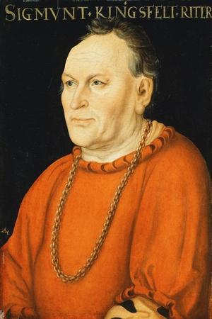 Portrait of Sigmunt Kingsfelt, Half-Length, Wearing a Red Costume