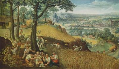 Summer Landscape with Corn Harvest