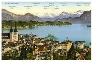 Lucerne and the Alps, Switzerland, 20th Century