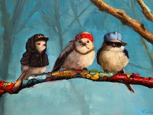 Birdz In Da Hood by Lucia Heffernan