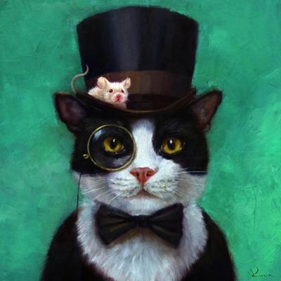 Tuxedo Cat by Lucia Heffernan