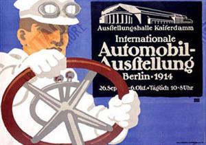 Automobil Ausstellung by Lucian Bernhard