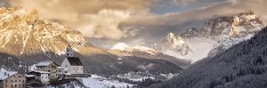 Italy, Veneto, Dolomites, the Small Church of Colle Santa Lucia by Luciano Gaudenzio