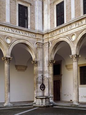 Glimpse of Courtyard of Honor, 1466-1472 by Luciano Laurana