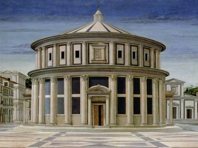 Ideal City, or the City of God, Probably Painted by Piero Della Francesca, Detail Central Section