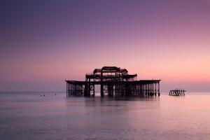 Ruins of West Pier. by Lucie Averill
