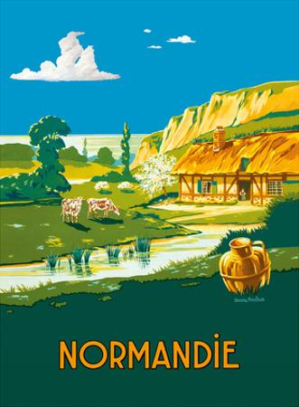 Normandie (Normandy) France - L'ete . . . L'état (Summer is here) - French State Railways by Lucien Baubaut