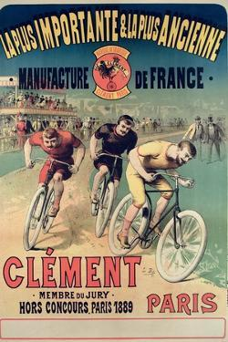 Poster Advertising the Cycles 'Clement', 1891 by Lucien Baylac