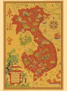 Indochine Francaise - French Indochina - Vietnam, Cambodia, Laos by Lucien Boucher