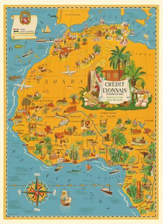 Map of North Africa - French Union - Credit Lyonnais