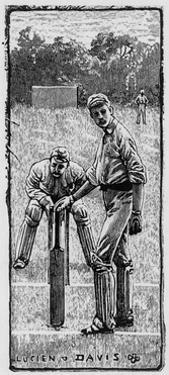 Cricket Asking for Guard by Lucien Davis